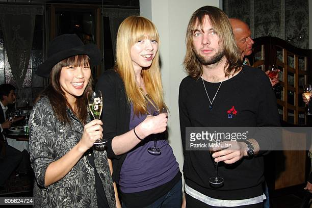 Nellie Kim Alexi Wasser and Mickey Madden attend ETRO and Perrier Jouet Celebrate The Launch of Patrick McMullan's Book KISS KISS at Chateau Marmont...