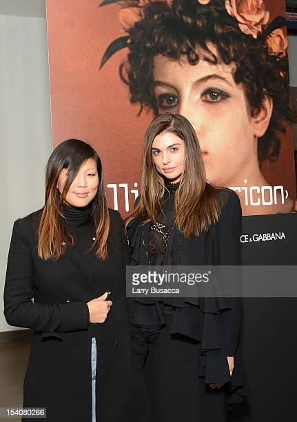 Nellie Kim and Aimee Osbourne attend a private screening of the restored Fellini Satyricon hosted by Dolce Gabbana at the 50th New York Film Festival...