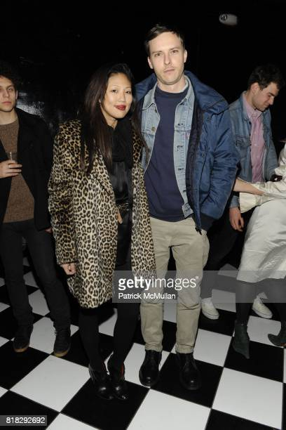 Nellie Kim and Patrik Ervell attend EVISU JACQUES and THE SMILE Celebrate The New Issue of JACQUES at The Westside Gentleman's Club on February 14...