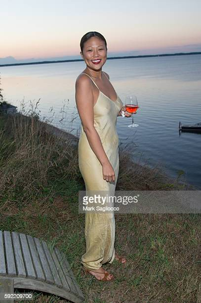 Nellie Kim attends Caudalie x Jason Wu Launch Event With The Coveteur on August 18 2016 in Hampton Bays New York