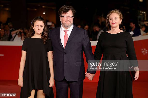 Nellie Lonergan, Kenneth Lonergan and J. Smith-Cameron walk a red carpet for 'Manchester By The Sea' during the 11th Rome Film Festival at Auditorium...