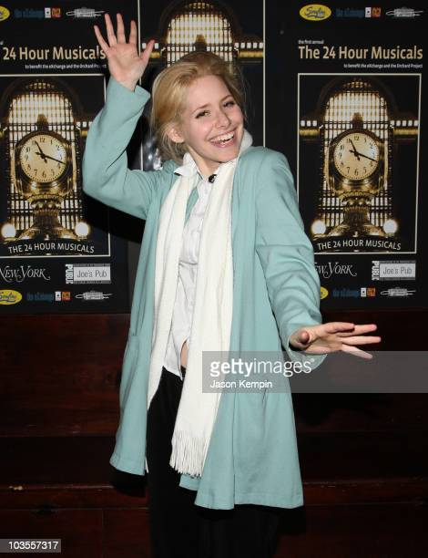 Nellie Mckay attends the 24 Hour Musicals After Party at Sarafina on January 21, 2008 in New York City.