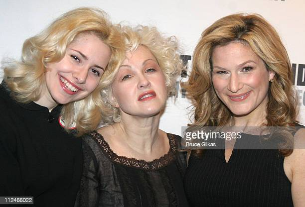 """Nellie McKay, Cyndi Lauper and Ana Gasteyer during """"Threepenny Opera"""" on Broadway - Photocall at Roundabout Theater Penthouse in New York, NY, United..."""