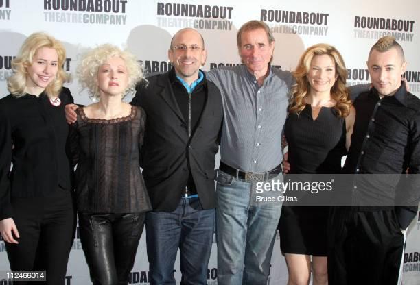 Nellie McKay, Cyndi Lauper, Scott Elliot, director, Jim Dale, Ana Gasteyer and Alan Cumming