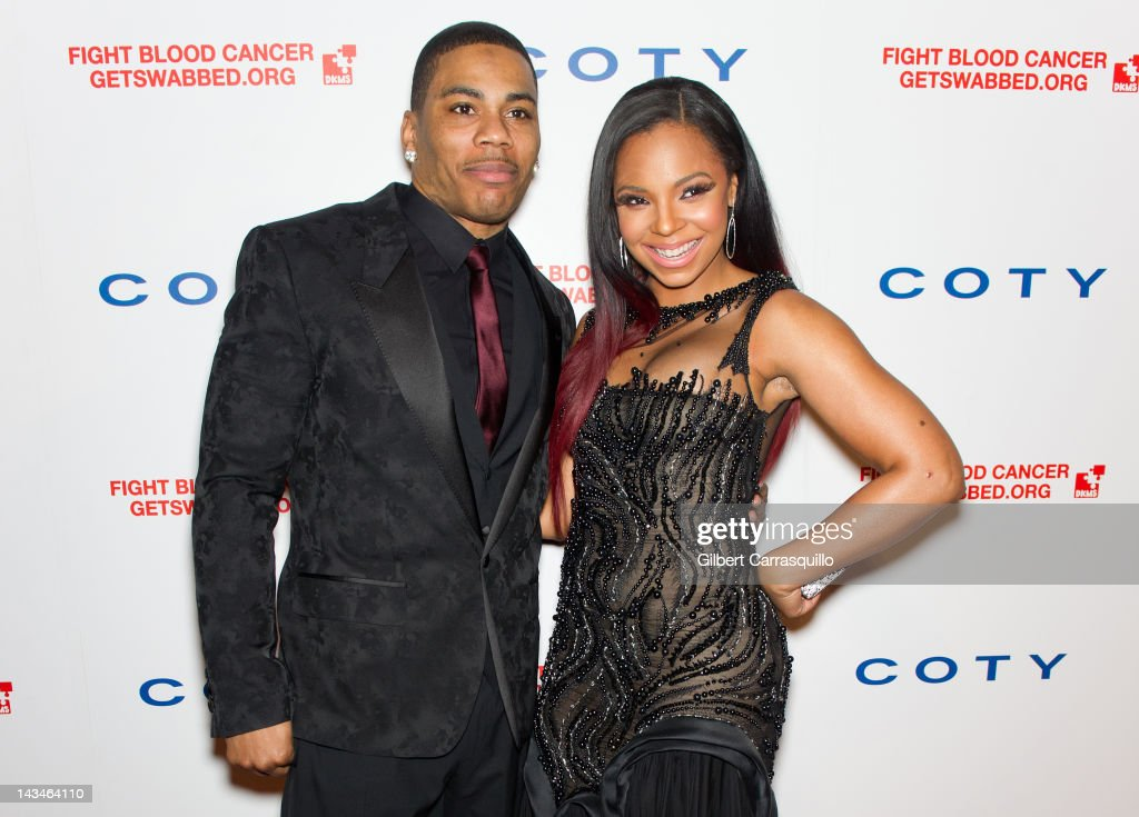 Nelly and Ashanti attend the 6th annual DKMS Linked Against Blood Cancer gala at Cipriani Wall Street on April 26, 2012 in New York City.
