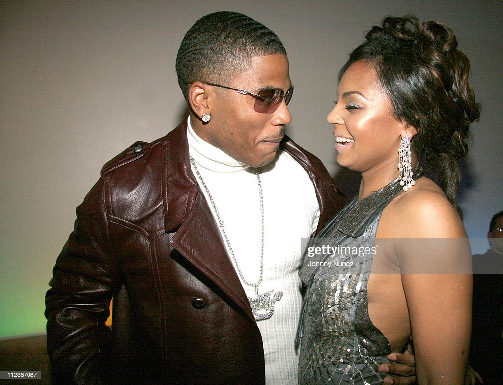 Nelly and Ashanti during Ashantis 25th Birthday Surprise