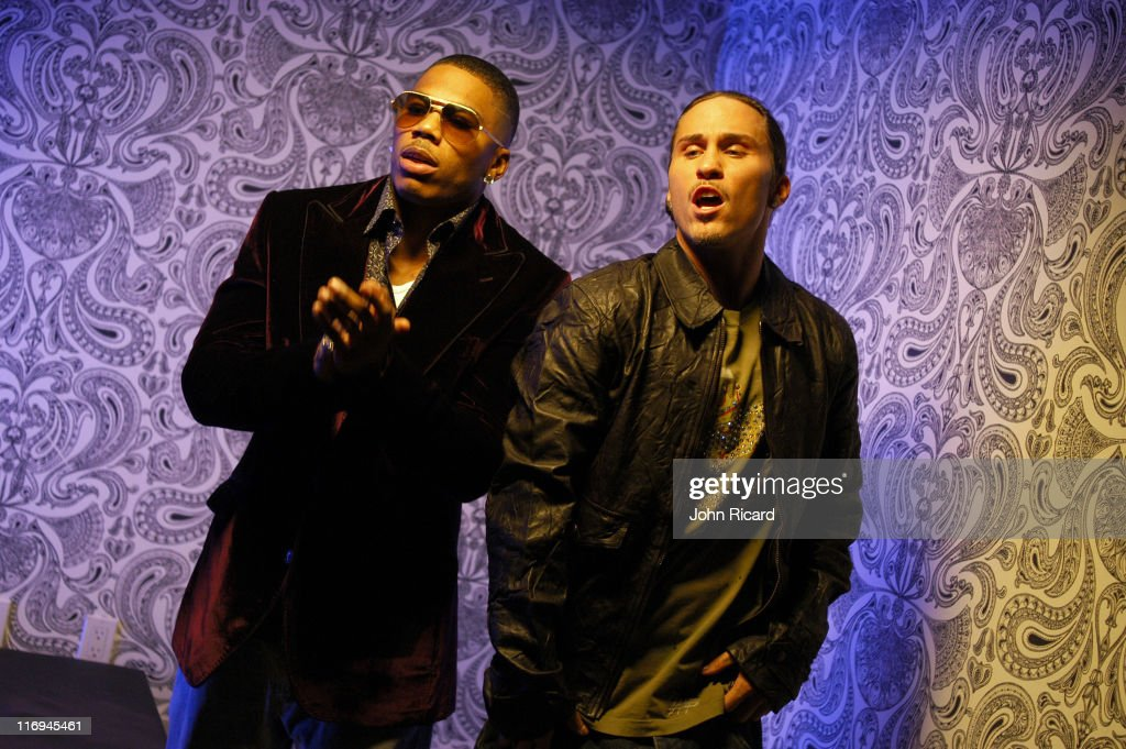 """Notorious B.I.G. """"Nasty Girl pt2"""" music video featuring Diddy, Nelly, and Jagged Edge - November 17, 2005 : News Photo"""