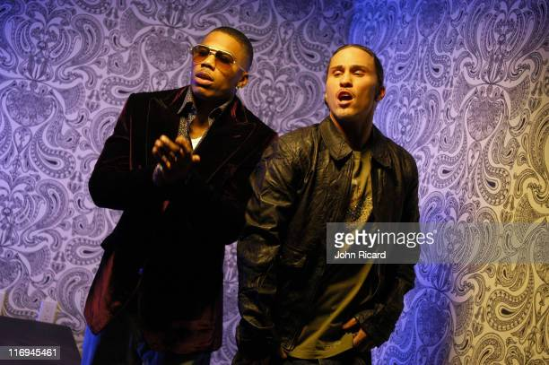 Nelly and Avery Storm during Notorious BIG Nasty Girl pt2 music video featuring Diddy Nelly and Jagged Edge November 17 2005 at Dream Hotel in New...