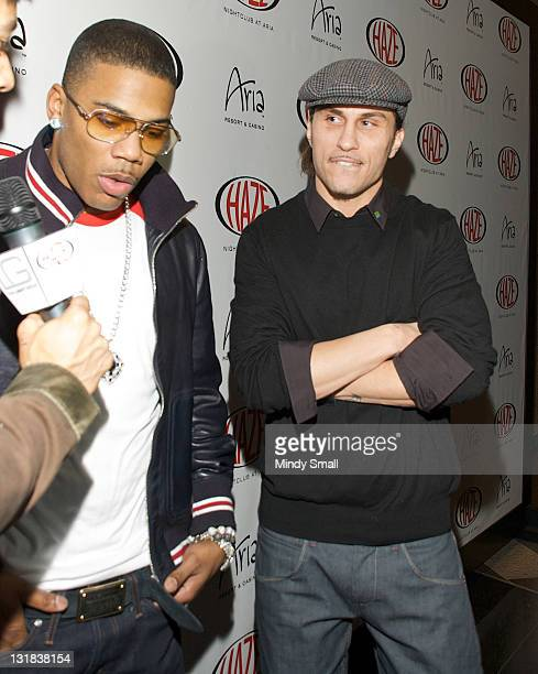 Nelly and Avery Storm walk the red carpet at Haze Nightclub on December 31 2010 in Las Vegas Nevada