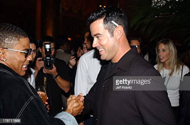 Nelly and Carson Daly during P Diddy and Guy Oseary Host Their PostVMA Party at Cipriani's Presented by RBK at Cipriani's in New York City New York...
