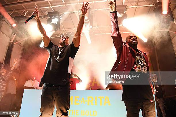 Nelly and Jermaine Dupri perform onstage at LimeARita Atlanta Cinco Saturday at Big Sky Buckhead on May 7 2016 in Atlanta Georgia
