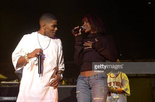 Nelly and Kelly Rowland during Z100's Jingle Ball 2002 Show at Madison Square Garden in New York City New York United States