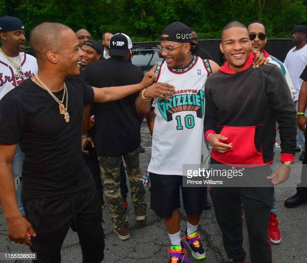 Nelly and Messiah Harris during the 2019 Tycoon Music Festival at Cellairis Amphitheatre at Lakewood on June 8, 2019 in Atlanta, Georgia.
