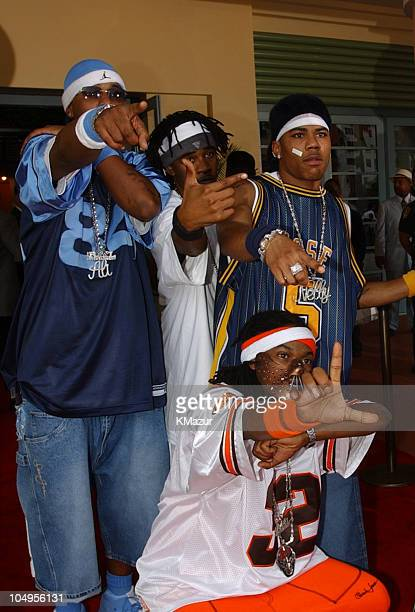 Nelly and Saint Lunatics during The Source HipHop Music Awards 2001 at Jackie Gleason Theatre in Miami Florida United States