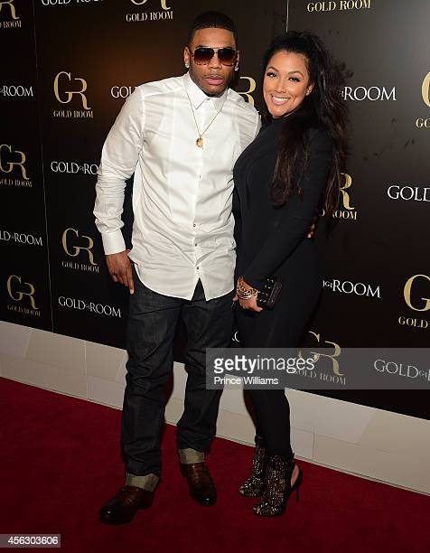 Nelly and Shantel Jackson Host Gold Room Monday Nights at Gold Room on September 21 2014 in Atlanta Georgia