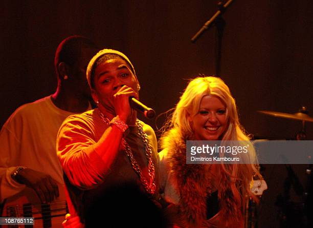 Nelly and Tara Reid during 2007 Park City Bud Select Presents Blender Sessions at Tao Park City Hosted by Nelly Show at Harry O's in Park City Utah...