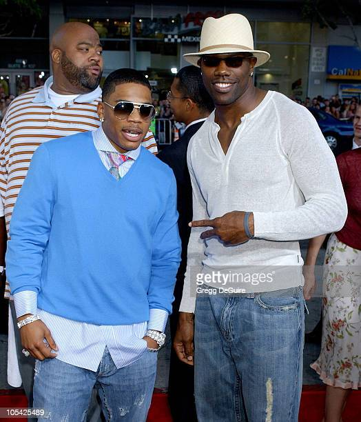 Nelly and Terrell Owens during 'The Longest Yard' Los Angeles Premiere Arrivals at Grauman's Chinese Theatre in Hollywood California United States
