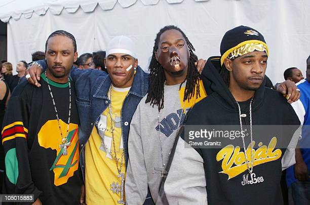 Nelly and The St Lunatics during The 30th Annual American Music Awards Arrivals at Shrine Auditorium in Los Angeles California United States