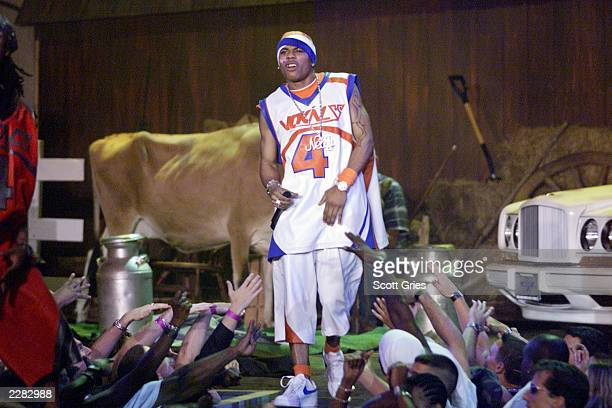 Nelly and the St Lunatics perform at The Source HipHop Music Awards 2001 at the Jackie Gleason Theater in Miami Beach Florida 8/20/01 Photo by Scott...