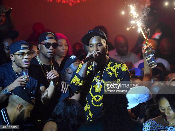 Nelly and Young Jeezy attend Hip Hop Awards Grande Finale Hosted by Jeezy Future at Velvet Room on September 21 2014 in Chamblee Georgia