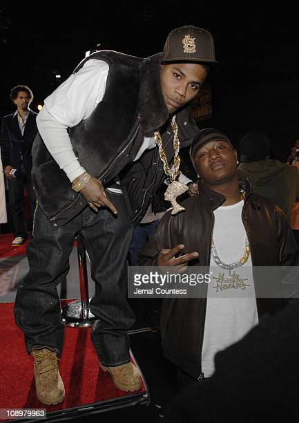 Nelly and Yung Joc during 2006 BET Hip-Hop Awards - Black Carpet at Fox Theatre in Atlanta, Georgia, United States.