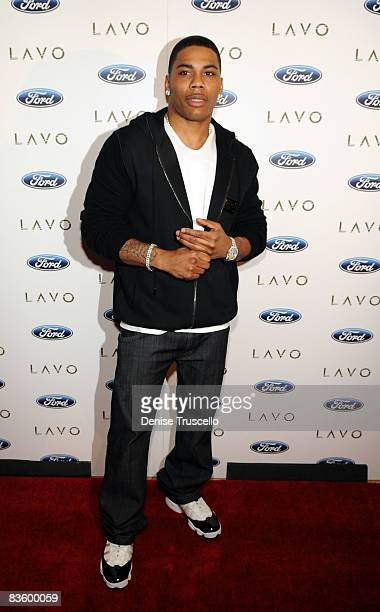 Nelly arrives at his surprise birthday party at Lavo Restaurant and Nightclub on November 2, 2008 in Las Vegas, Nevada.
