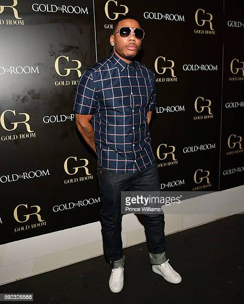 Nelly attends a party during Hair Show Weekend at Gold Room on August 20 2016 in Atlanta Georgia