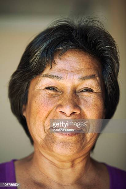 Nelly Burgueno mother of trapped miner Victor Zamora poses at Campamento Esperanza at the San Jose Mine in September 2010 near the city of Copiapo...