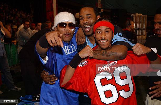 Nelly Busta Rhymes Ludacris during Super Bowl XXXVI MTV's Rock 'N Jock at New Orleans Convention Center in New Orleans Louisiana United States