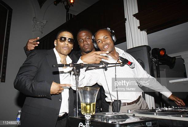 Nelly, DJ MOS and DJ D-Nice attend An Evening with Debra L. Lee on June 23, 2008 in Los Angeles, California.
