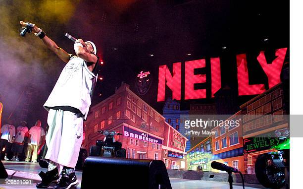 """Nelly during MTV's """"TRL"""" Tours Southern California - September 2, 2001 at Verizon Wireless Amphitheater in Irvine, California, United States."""