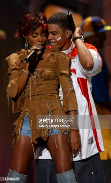 Nelly featuring Kelly Rowland during The 8th Annual Soul Train Lady of Soul Awards Show at Pasadena Civic Auditorium in Pasadena California United...