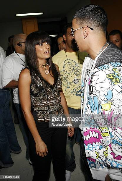 Nelly Furtado and Daddy Yankee during MTV Video Music Awards Latin America 2006 - Audience and Backstage at Palacio de los Deportes in Mexico City,...