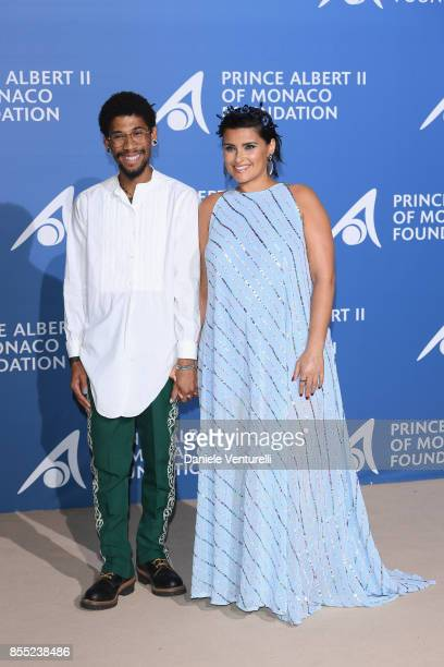 "Nelly Furtado and Gerard Long II attend the inaugural ""Monte-Carlo Gala for the Global Ocean"" honoring Leonardo DiCaprio at the Monaco Garnier Opera..."