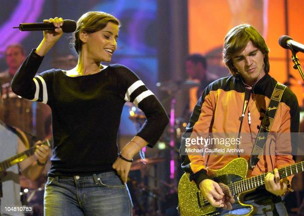 Nelly Furtado and Juanes during 3rd Annual Latin GRAMMY Awards Rehearsals Day 1 at The Kodak Theatre in Hollywood California United States