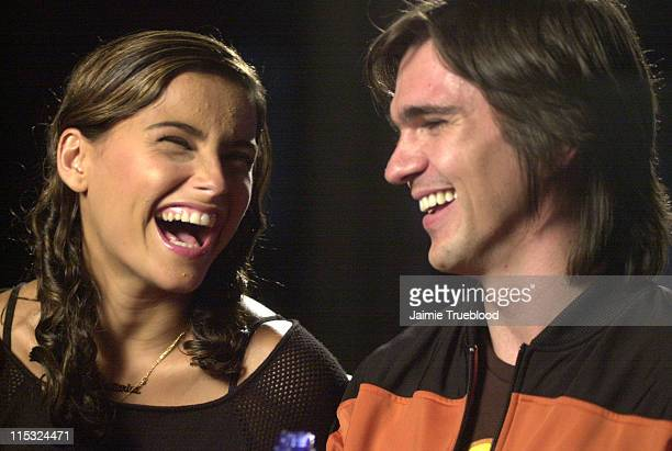 Nelly Furtado and Juanes during 3rd Annual Latin GRAMMY Awards Web Central Day 1 at The Kodak Theatre in Hollywood California United States