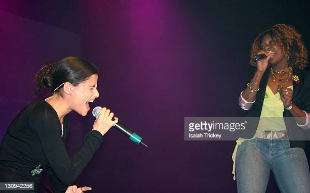 Nelly Furtado and Jully Black during UrbanAIDS Benefit Concert with Alicia Keys - December 1, 2004 in Toronto, Canada.