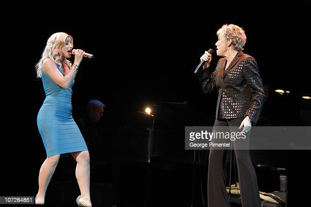 """Nelly Furtado and Musician Anne Murray performs at The 6th Annual """"It's Always Something"""" Variety Show in Support of the Gilda's Club at the Elgin..."""