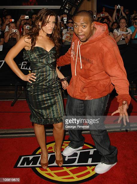 Nelly Furtado and Timbaland during 17th Annual MuchMusic Video Awards - Red Carpet at Chum/City Building in Toronto, Ontario, Canada.