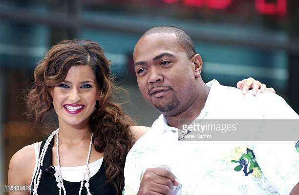 Nelly Furtado and Timbaland during Nelly Furtado and Timbaland Perform on the NBC's 'The Today Show' June 22 2006 at NBC in New York City New York...