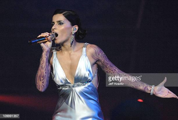 Nelly Furtado during 2006 MTV European Music Awards Copenhagen Show at Bella Centre in Copenhagen Denmark