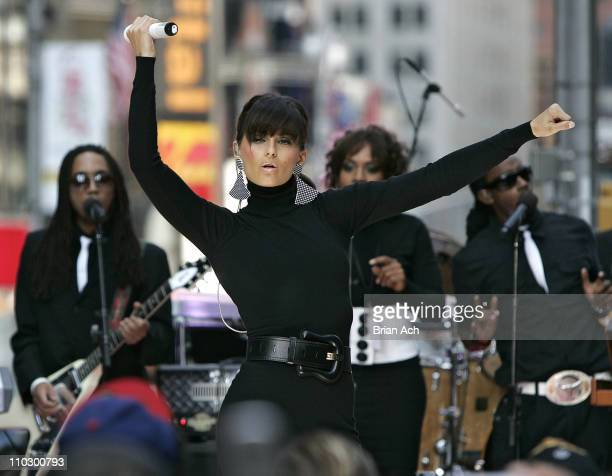 "Nelly Furtado during Diddy, Tenacious D, Zoe Saldana and Nelly Furtado Visit MTV's ""TRL"" - September 25, 2006 at MTV Studios in New York City, New..."