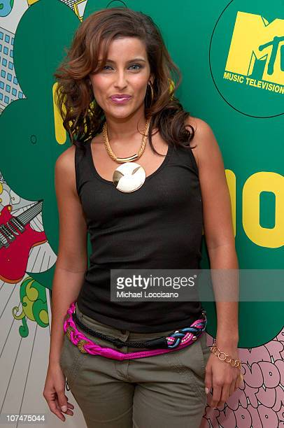 "Nelly Furtado during Kanye West, Jeremy Piven, Nelly Furtado, Keyshia Cole and Twista Visit MTV's ""TRL"" - May 3, 2006 at MTV Studios - Times Square..."