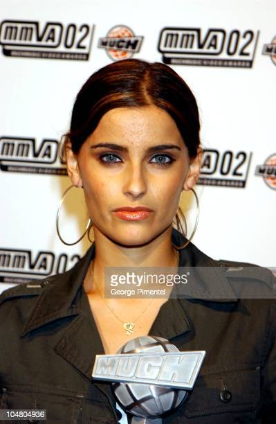 Nelly Furtado during MuchMusic Video Awards 2002 - Backstage at Chum City Building in Toronto, Ontario, Canada.
