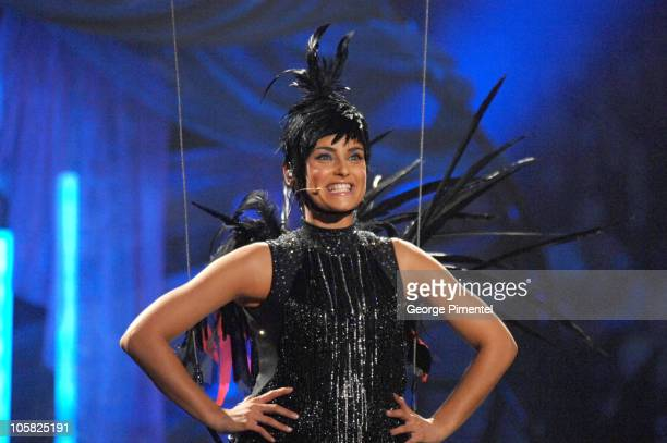 Nelly Furtado host opens the 2007 Juno Awards by flying down as a bird singing her hit song I'm Like a Bird