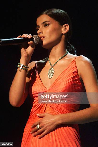 Nelly Furtado performing at the 44th Annual Grammy Awards at the Staples Center in Los Angeles CA 2/27/2002