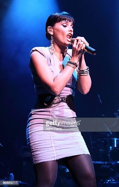 Nelly Furtado performs at Fillmore Miami Beach on February 19 2010 in Miami Beach Florida
