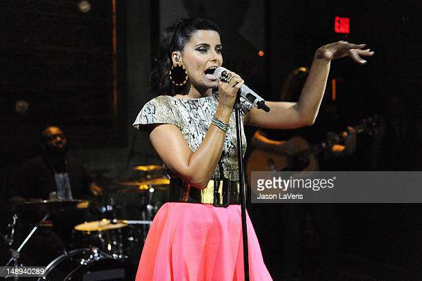 Nelly Furtado performs at The Sayers Club on July 19 2012 in Hollywood California