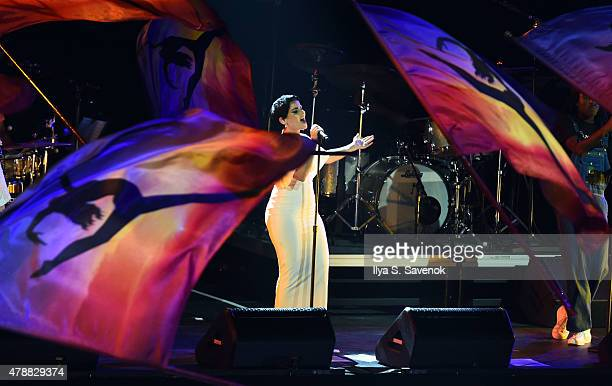 Nelly Furtado performs during Contemporary Color Conceived By David Byrne at Barclays Center of Brooklyn on June 27 2015 in New York City
