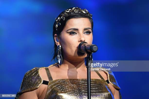 Nelly Furtado performs on stage at the auction for the inaugural MonteCarlo Gala for the Global Ccean honoring Leonardo DiCaprio at the Monaco...